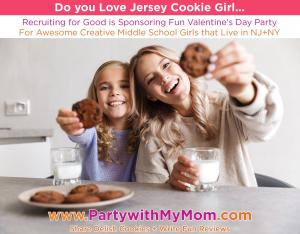 Love Jersey Cookie Girl and Want to Have Fun on Valentine's Day Participate in Fun Party to Do Both #jerseycookiegirl #partywithmom www.PartywithMom.com