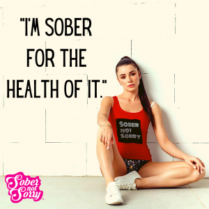 Sober Not Sorry - Girl wearing Sober Not Sorry Athletic Tank Top