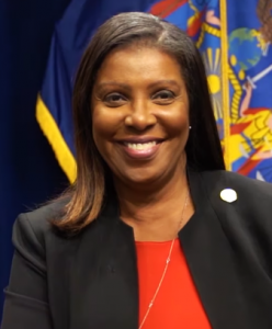 New York Attorney General Letitia James during an interview in February 2020.