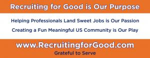 Retain Recruiting for Good to Help Us Fund Meaningful Fun in The Community #purposebeforeprofit #recruitingforgood www.RecruitingforGood.com