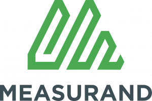 Measurand's Vertical Logo in Black and Green