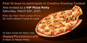 1st 10 boys to submit drawings of women they celebrate enjoy invite to special Happy Pizza Hour in Santa Monica #happypizzahour www.HappyPizzaHour.com