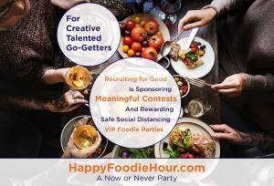 Recruiting for Good is sponsoring creative meaningful contests and rewarding sweet foodie parties in Santa Monica #happyfoodiehour www.HappyFoodieHour.com