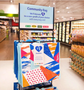 Look for your Community Bags with a Tag at your local Winn Dixie store racks.