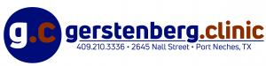gerstenberg.clinic logo with icon and address (2645 Nall St, Port Neches, TX 77651)