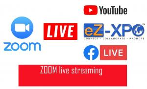 Zoom Live Streaming for Virtual Trade Show and Conference