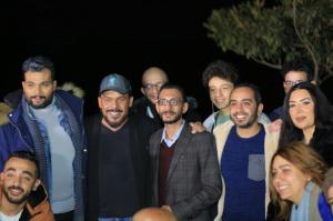 The Producer Hosny Mahmoud With the Movie actors
