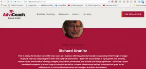 Profile of Richard A Kranitz on AdviCoach, Wisconsin