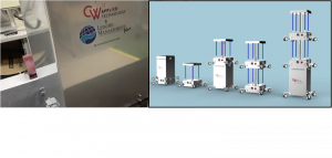 Leisure Management Plus & CW Applied Technology Muv-X UV-C Room and Space Sanitising Machines