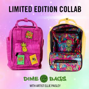 Limited Edition Dime Bags Ellie Paisley Collab Hot Box | Mini Backpacks | Hempster | Artist Bag Dime Bags