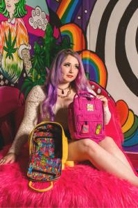 Ellie Paisley | Elliey Paisley Art | Limited Edition Dime Bags Ellie Paisley Collab Hot Box | Mini Backpacks | Hempster | Photo taken at Marijuana Mansion |