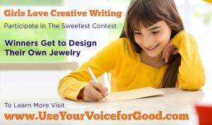Girls Participate in Creative Writing Contest Winners Land Opportunity to Work With Parrish Walsh #fictionjewelry www.UseYourVoiceforGood.com