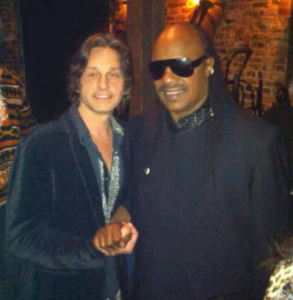 Steve Wonder and Stevie Marco at Blues Alley in Georgetown Washington DC together at a show where world famous violinist Karen Briggs was the headliner.