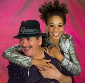 Cindy Blackman performed on the Respect and Love Manifesto and is shown here with her legendary husband Carlos Santana