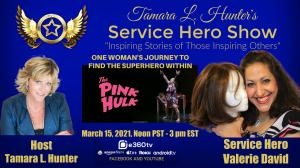Tamara L. Hunter, the Host of the Service Hero Show honored Valerie David