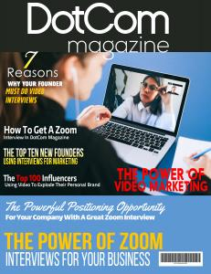The DotCom Magazine Exclusive Zoom Interview