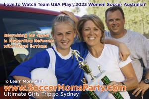 Love to Follow Team USA at 2023 Women Soccer in Australia Participate in Recruiting for Good Enjoy Travel Savings @recruitingforgood #2023womensoccer www.SoccerMomsParty.com