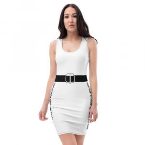 white and black Dress fitted dress