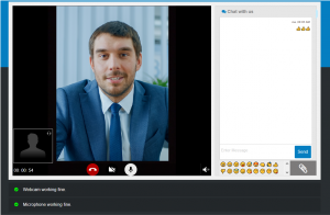 screen shot showing man on video call