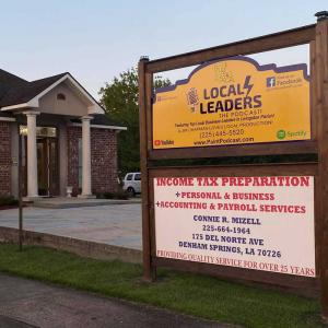 Local Leaders: The Podcast is located at  181 Del Norte Ave. Denham Springs, LA 70726, right in the heart of Livingston Parish.