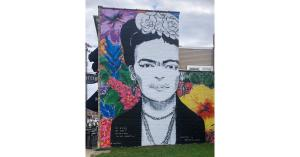 Mural of Frida Kahlo by Michael McNamara