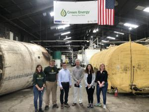 Green Energy Biofuel team members recycle grease tank cleaning