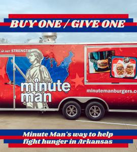 Minute Man Restaurant in Jacksonville, AR use food trucks to feed the hungry in Arkansas