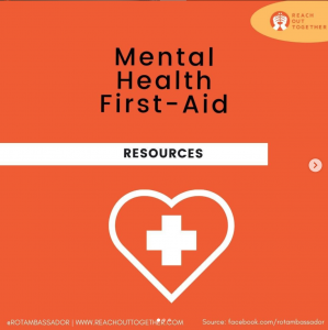Mental Health First Aid, a guide to supporting yourself and others in mental health maintenance.