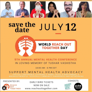 World Reach Out Together Day 2021 tickets are selling via EventBrite, with RSVP pricing until May 31.