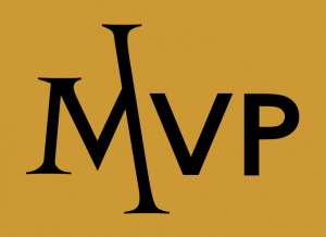 Magarac Venture Partners (MVP) logo gold background & black character letters