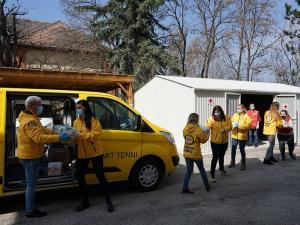 The Volunteer Ministers brought food and Easter treats to the Red Cross for delivery to homeless and impoverished families in rural communities
