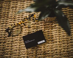 Cosocial NFC Stainless Steel Matte Black Card
