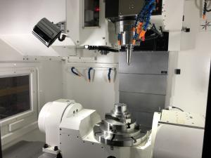CNC Milling Machine - A Close-Up View of the Unit Interior
