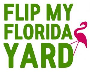 This is the logo for the TV show Flip My Florida Yard