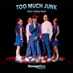 """Too Much Junk"" (feat. Betty Idol) by StorageBlue Music Single Cover"