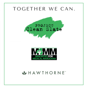 Logos of Project Clean Slate, M4MM and Hawthorne