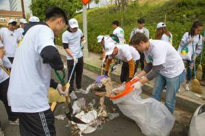 Neighborhood cleanups in Hollywood, California, based on The Way  to Happiness promote caring for the environment.