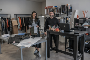 Italian licensee fashion stylists Franchi Filippo and Scilla Del Carria