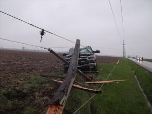 photo of power line on a truck