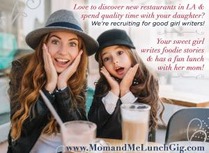 Parents participate in Recruiting for Good referral program to earn travel for their kids. Girls participate in monthly Mom and Me Lunch Gig to write dining reviews and earn more for trips. #seetheworldforgood #creativegigsforkids  www.SeetheWorldforGood.com