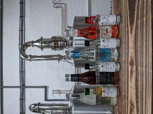 Spirit of Wales Distillery Premium Distilled Welsh Spirits with Fever Tree Tonic and Mixers in the Newport Distillery.