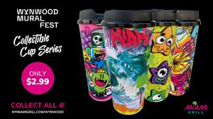 Miami Grill 2021 Wynwood Mural Fest Collectible Cup Series