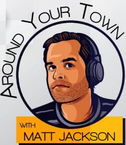 Cartoon image of radio talk show host Matt Jackson