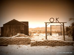 OK Corral at the Mescal Movie Set
