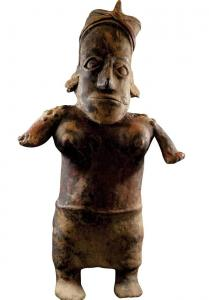 Pre-Columbian standing female Jalisco culture effigy figure