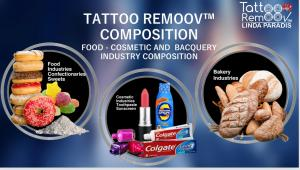 It does not require anesthesia due to minor discomfort, does not cause bleeding or inflammation and does not create scars. The Tattoo Removal product is composed of neither acid or saline solutions, and it has a basic Ph of 9.5.