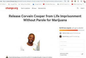 Change dot org page for Corvain Cooper (Attorney Patrick Megaro)