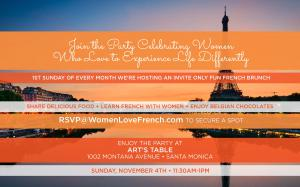 Come to Our Fun French Brunch Party at Art's Table Enjoy the Food, Meet Like-Minded Friends, and Have Fun Learning