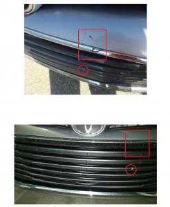 'Believe It or Not!' but according to Enterprise National Car Rental the two photos reveal the same damage!  The 'angle' of the camera conceals...'Believe It' so says Enterpirse.  So says the rest of the world: 'NOT!'