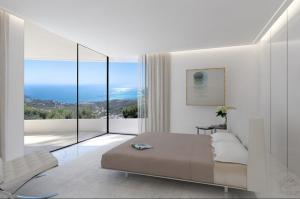 Bedroom in Altea Hills villa overlooking the Mediterranean Sea
